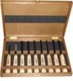 Набор  из 9 резцов EXTRA в деревянной  коробке /NAREX/ 851500