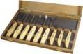 Набор из 9 резцов с деревянной ручкой в деревянной  коробке /NAREX/ 8948 13